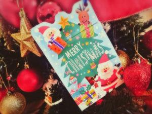 クリスマスカード セリア